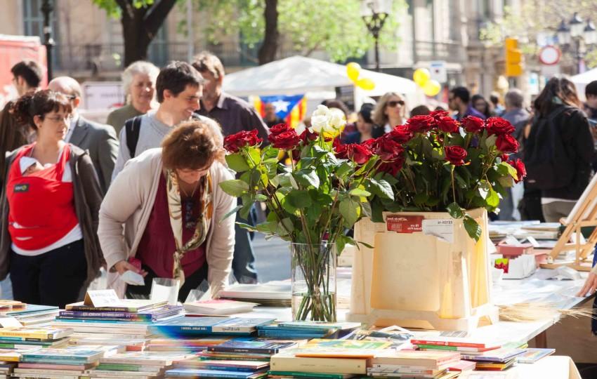 Fête de la Sant Jordi à Barcelone