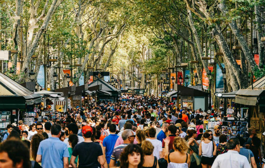 La Rambla lors de votre EVJF Barcelone